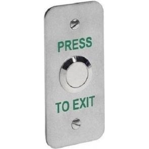 Architrave Stainless Exit Button, Flush