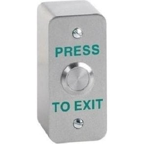 Architrave Stainless Exit Button, Surface