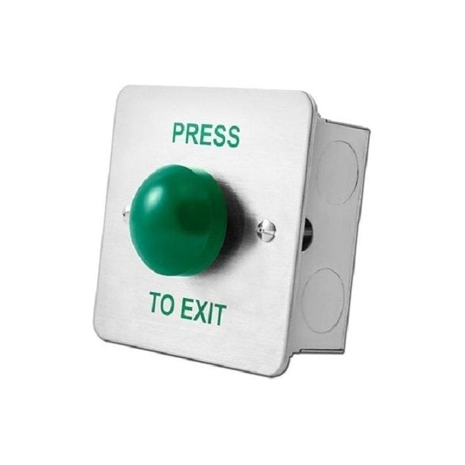 CDVI Domed Stainless Exit Button, Flush