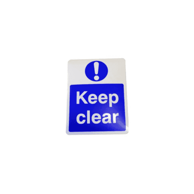 "CDVI Self Adhesive ""Keep Clear"" Sign"