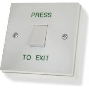 Standard Plastic Exit Button, Flush