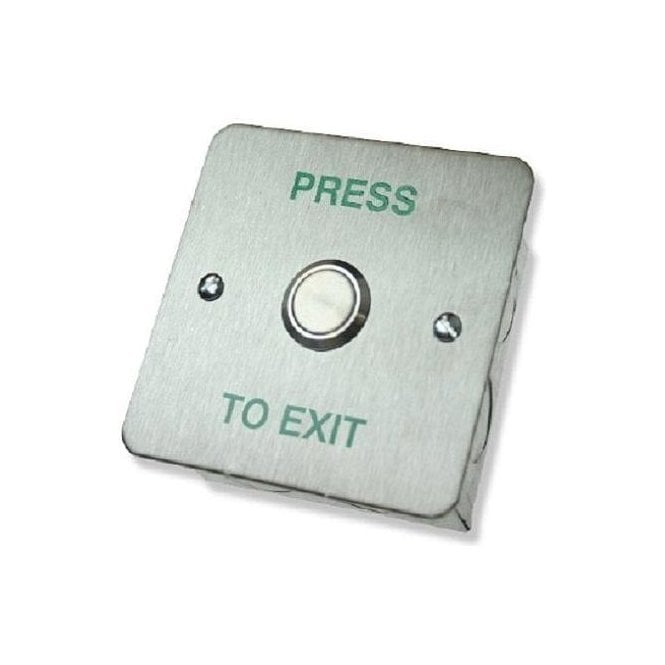 CDVI Standard Stainless Exit Button, Flush