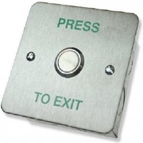 Standard Stainless Exit Button, Flush