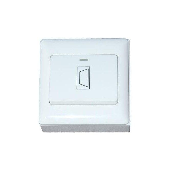 CDVI Wide Button Plastic Exit Button, Flush