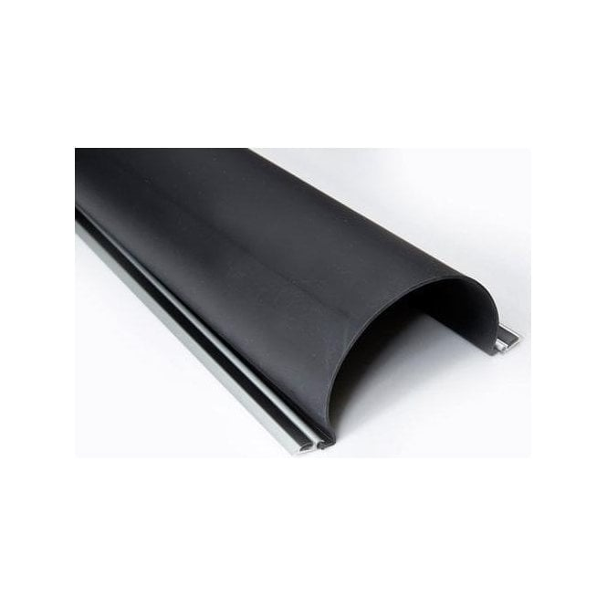 DEA Aluminium backed rubber profile finger guard 2100mm L x 157mm W - Easy fit