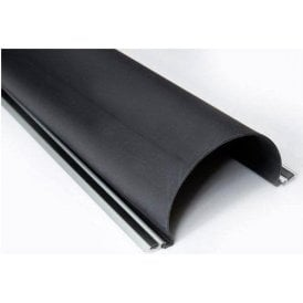 Aluminium backed rubber profile finger guard 2100mm L x 157mm W - Easy fit