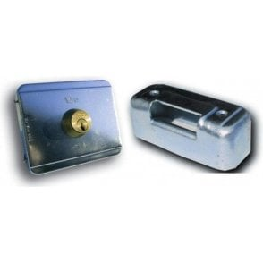 Horizontal Electric Lock Complete with Double Cylinder and Horizontal Selvage