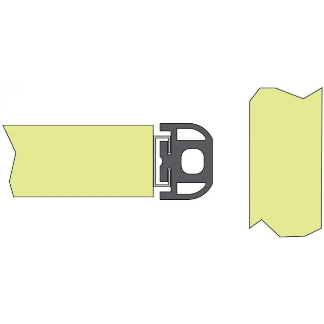 DEA SOFT3 Passive Edge - Safety Black Rubber Profile