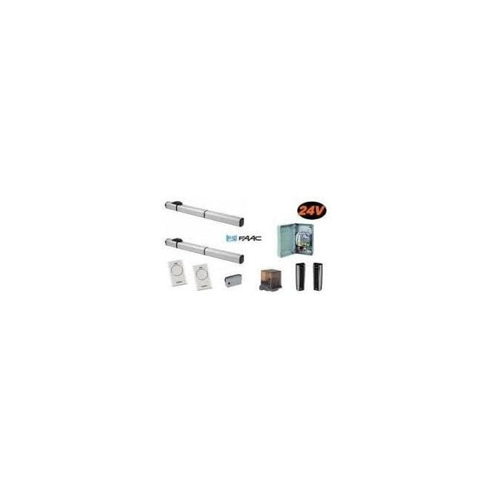 FAAC S450 E124 KIT 24v hydraulic operator E124 double kit for swing gates