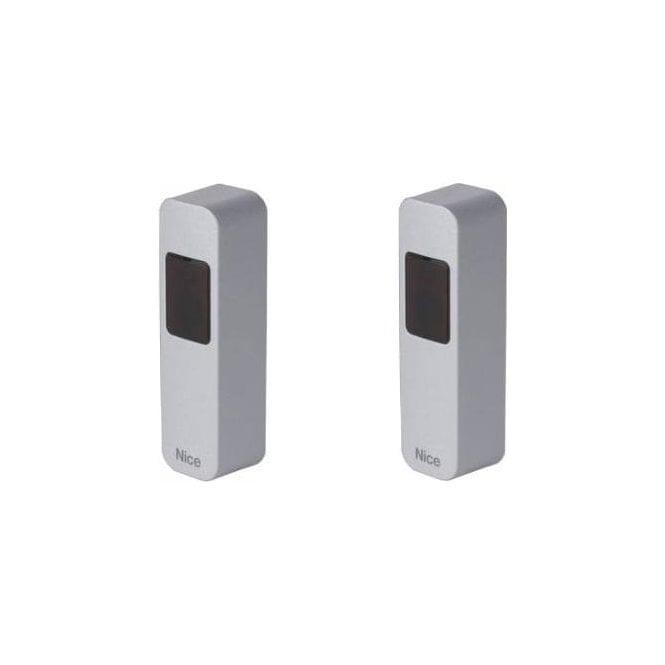 NICE EPSA Pair of Burglar-Resistant Slim photocells with a metal body