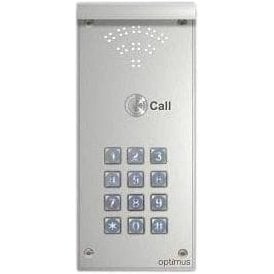 Optimus Door Entry by Telguard - Single Call Button and Illuminated Keypad
