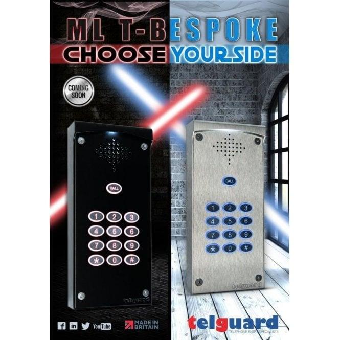Telguard Limited Edition Black ML T-Bespoke GSM intercom with Keypad