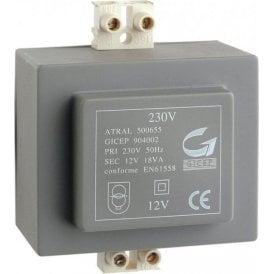 Transformer / Power supply for Daitem 902AU / 901AU 230V-12VAC-18VA