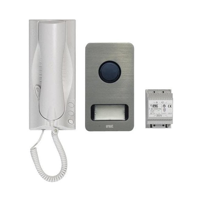 URMET 1122/501  1 way audio kit with MIKRA panel and Atlantico handset