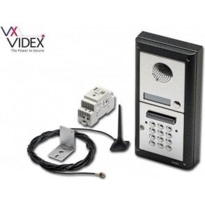 VIDEX 4K-1S/CL/GSM 1 way GSM intercom with 4000 series front end and keypad